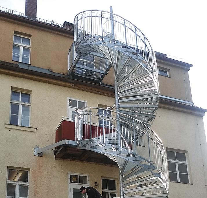 Fluchttreppe - Spindeltreppe - Gitterrost