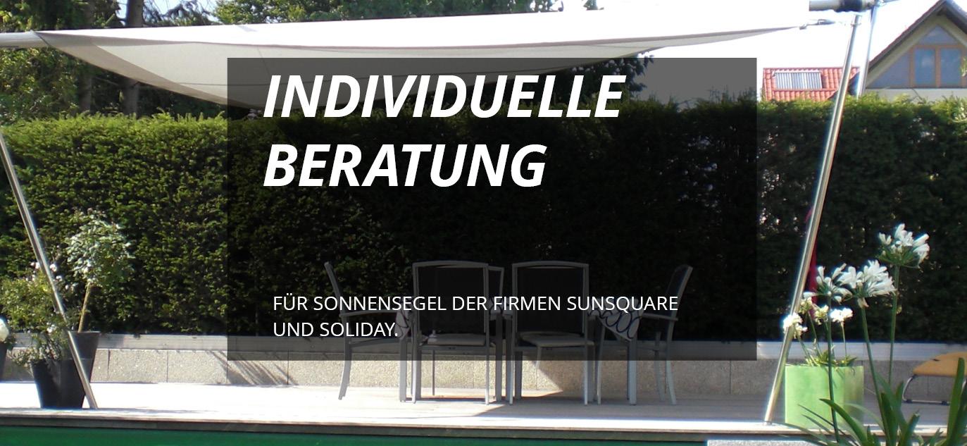 Sonnensegel der Firmen Sunsquare und Soliday - Naber und Steiner